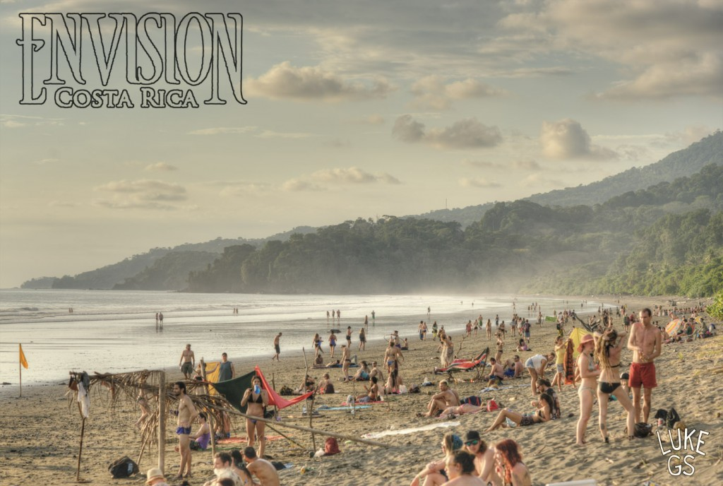 Beach picture from the Envision Festival 2015 shot by Luke G