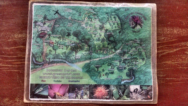 Map of Finca la Isla Botanical Gardens Costa Rica