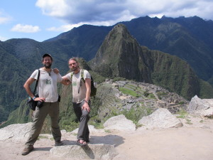 Turtle and Marc at Macchu Pichu